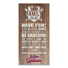 St. Louis Cardinals Family Rules Canvas Wall Art