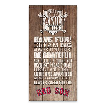 Boston Red Sox Family Rules Canvas Wall Art