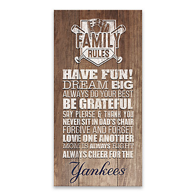 New York Yankees Family Rules Canvas Wall Art