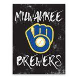 Milwaukee Brewers Grunge Canvas Wall Art
