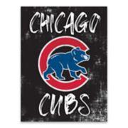 Chicago Cubs Grunge Canvas Wall Art
