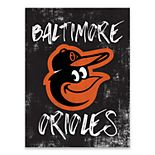 Baltimore Orioles Grunge Canvas Wall Art