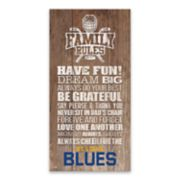 St. Louis Blues Family Rules Canvas Wall Art