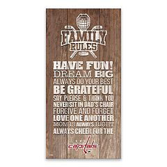 Washington Capitals Family Rules Canvas Wall Art