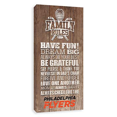 Philadelphia Flyers Family Rules Canvas Wall Art