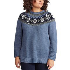 Plus Size Chaps Fairisle Sweater