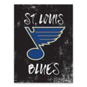 St. Louis Blues Grunge Canvas Wall Art
