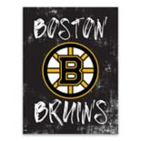 Boston Bruins Grunge Canvas Wall Art