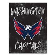 Washington Capitals Grunge Canvas Wall Art
