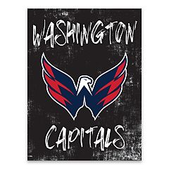 Washington Capitals Grunge Canvas Wall Art