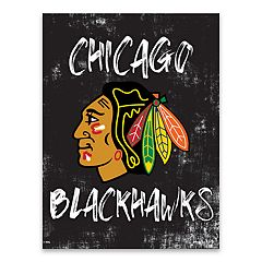 Chicago Blackhawks Grunge Canvas Wall Art