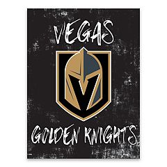 Vegas Golden Knights Grunge Canvas Wall Art