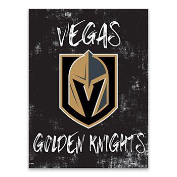 Vegas Golden Knights Grunge Canvas Wall Art