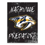 Nashville Predators Grunge Canvas Wall Art