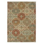 StyleHaven Arcadia Floral Panel Lattice Wool Rug