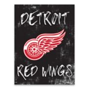 Detroit Red Wings Grunge Canvas Wall Art