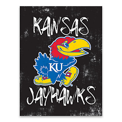 Kansas Jayhawks Grunge Canvas Wall Art