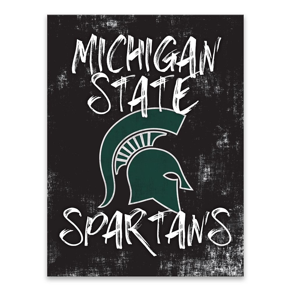 Michigan State Spartans Grunge Canvas Wall Art