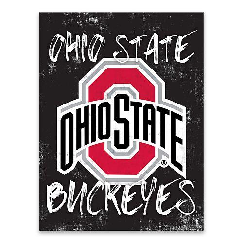 Ohio State Buckeyes Grunge Canvas Wall Art