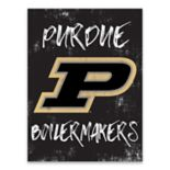 Purdue Boilermakers Grunge Canvas Wall Art