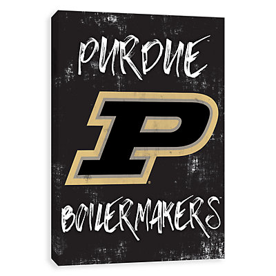 Purdue Boilermakers Grunge Canvas Wall Art