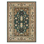 StyleHaven Arcadia Tribal Bordered Wool Rug