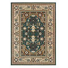 StyleHaven Arcadia Tribal Bordered Wool Rug