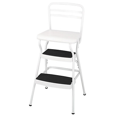 COSCO Retro Bright White Lift-up Seat Step Stool