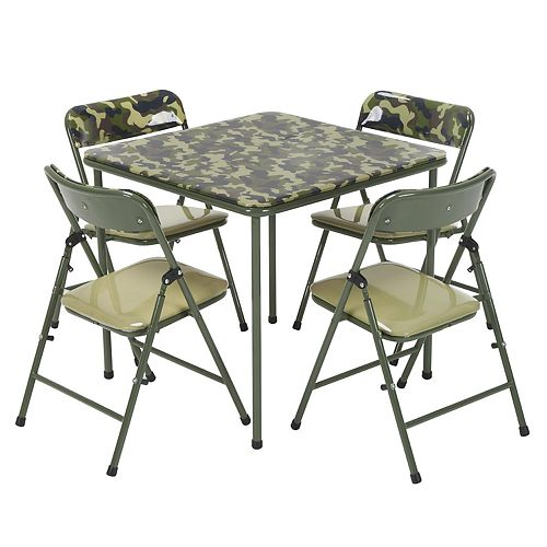 Kids COSCO Army Green Camouflage Table & Chair 5-piece Set