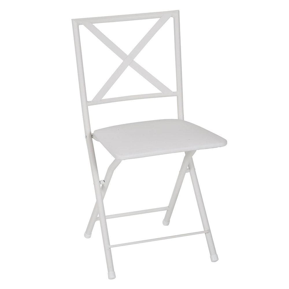 COSCO Metal Folding Dining Chair 4-piece Set