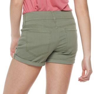 Juniors' SO® 2-button Denim Midi Shorts