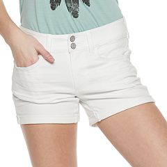 Juniors' SO® 2-button Denim Midi Shorts
