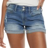 SO® Cuffed Jean Shorts