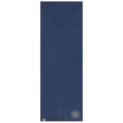 Gaiam 6mm Embroidered Floral Denim Yoga Mat