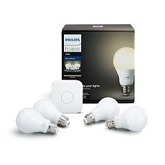 Philips Hue White Smart Bulb Starter Kit (4-Pack)