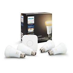 Philips Hue White Ambiance Smart Bulb Starter Kit (4-Pack)