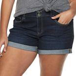 Juniors' Plus Size SO® Double Roll Cuff Midi Shorts