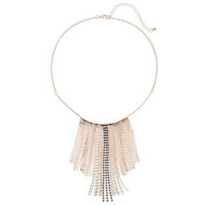 Jennifer Lopez Shimmer Stone Fringe Necklace