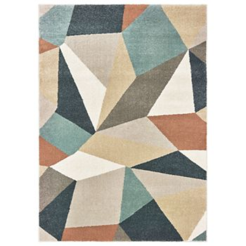 StyleHaven Coronado Faceted Geometric Rug