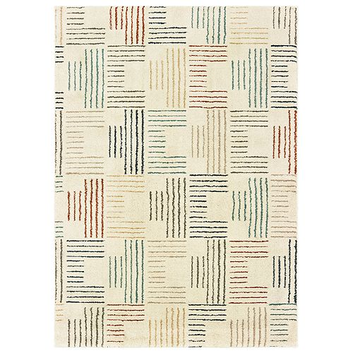 StyleHaven Coronado Striped Geometric Rug