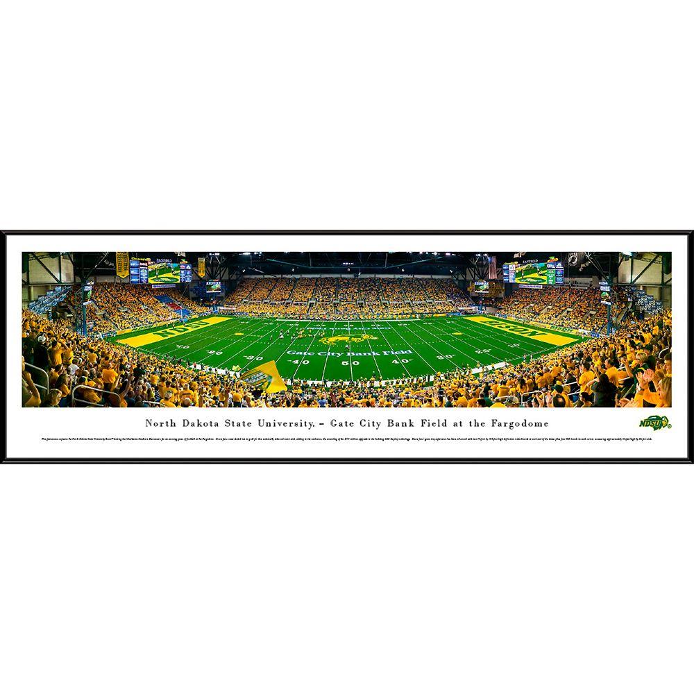 North Dakota State Bison Framed Stadium Print