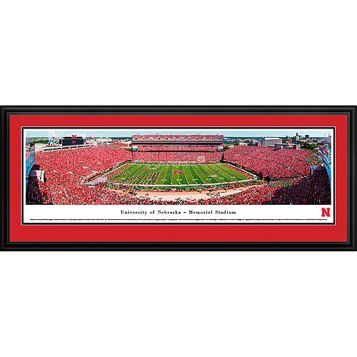 Nebraska Cornhuskers Framed Stadium Print