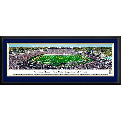 Navy Midshipmen Framed Stadium Print