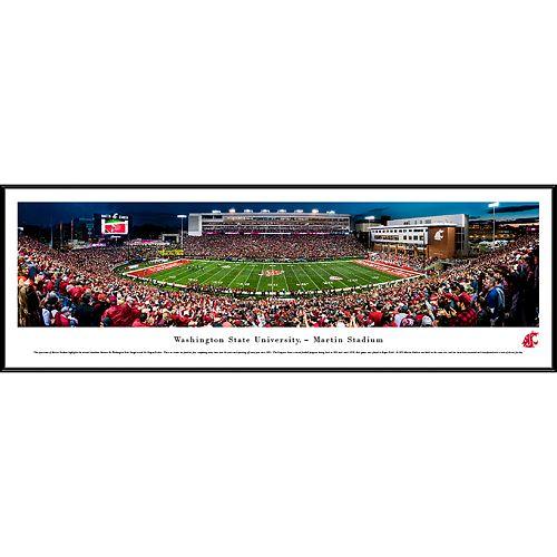 Washington State Cougars Framed Stadium Print