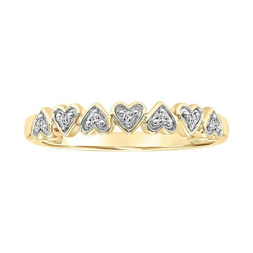 Lovemark 10k Gold Diamond Accent Heart Band