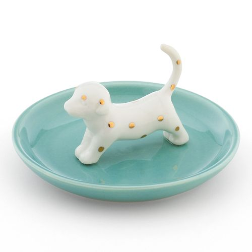 LC Lauren Conrad Spotted Dachshund Ring Holder Trinket Tray