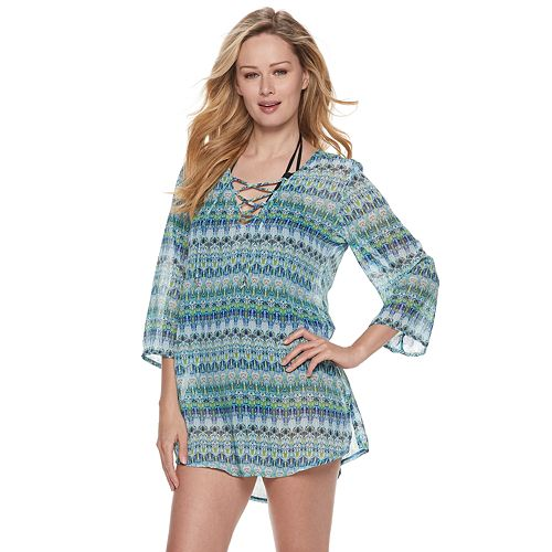 83311a5a9c3f8 Women's Portocruz Lace-Up Tunic Cover-Up