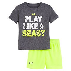 Baby Boy Under Armour 'Play Like A Beast' Graphic Tee & Shorts Set