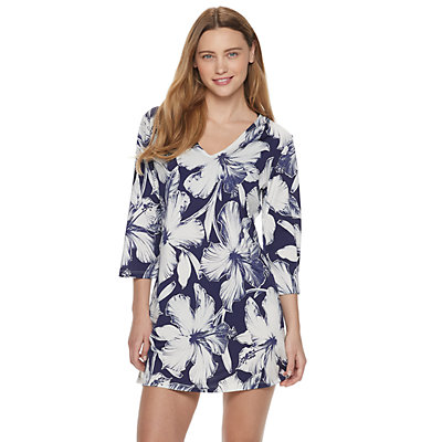 Women's Portocruz Cross Back Flower Tunic Cover-Up