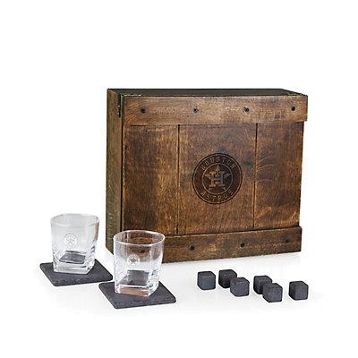 Houston Astros Whiskey Box Gift Set